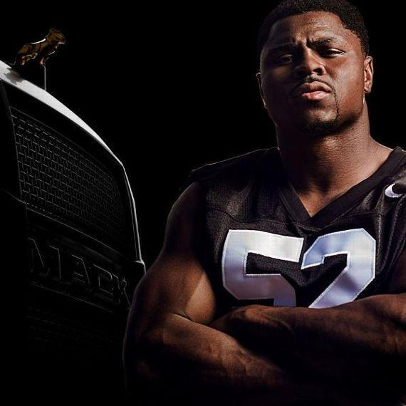 Natural fit: Oakland's Khalil Mack has a new endorsement deal with Mack Trucks. (AP)