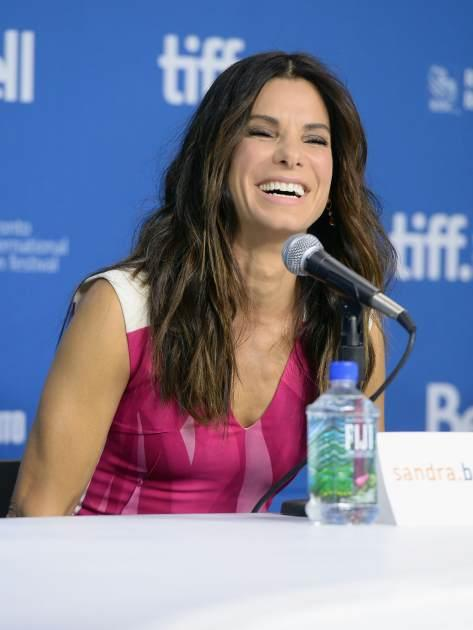 Sandra Bullock speaks onstage at 'Gravity' Press Conference during the 2013 Toronto International Film Festival at TIFF Bell Lightbox on September 9, 2013 in Toronto -- Getty Images