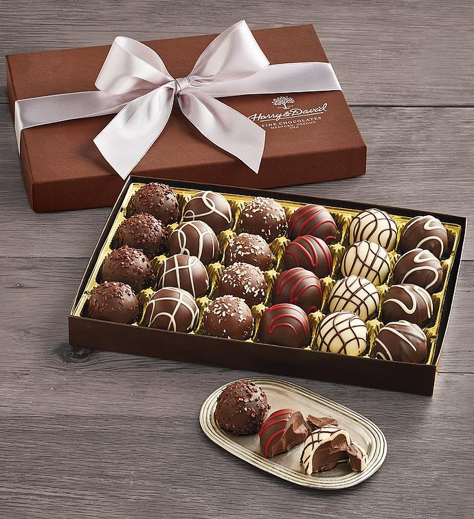 Signature Chocolate Truffles. Image via Harry & David.