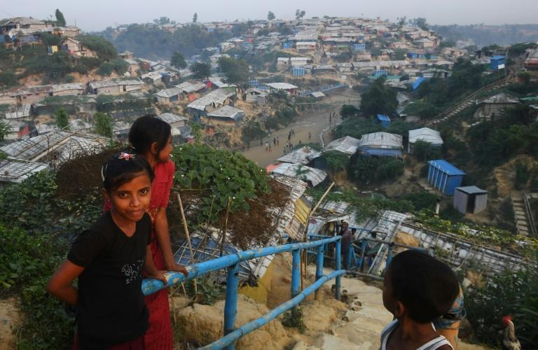 A view of the Hakimpara Rohingya refugee camp in Bangladesh's Cox's Bazar district in November 2018