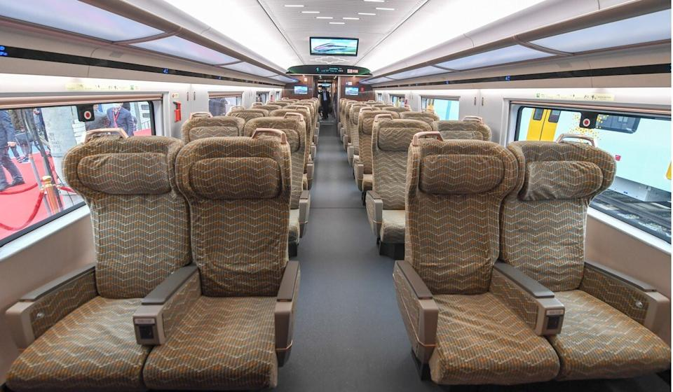 The high-speed train service between Beijing and Shanghai takes between four and a half and six hours. Photo: Xinhua
