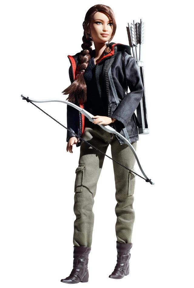 "<div class=""caption-credit""> Photo by: barbiecollector.com</div><b>""The Hunger Games"" Katniss Everdeen doll, <a href=""http://www.barbiecollector.com/shop/doll/hunger-games-katniss-doll-w3320"" rel=""nofollow noopener"" target=""_blank"" data-ylk=""slk:available now for $29.95"" class=""link rapid-noclick-resp"">available now for $29.95</a></b> <br> May the odds of looking even just a little bit like Jennifer Lawrence be ever in your favor. <br> <br>"