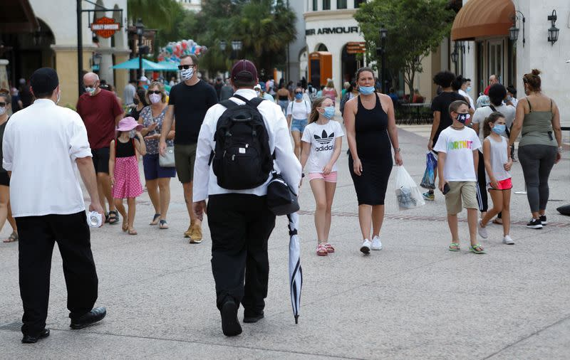 Walt Disney World conducts a phased reopening from coronavirus disease (COVID-19) restrictions in Lake Buena Vista