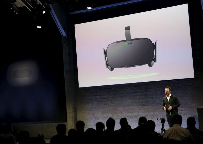 Oculus CEO Brendan Iribe speaks during an event in San Francisco