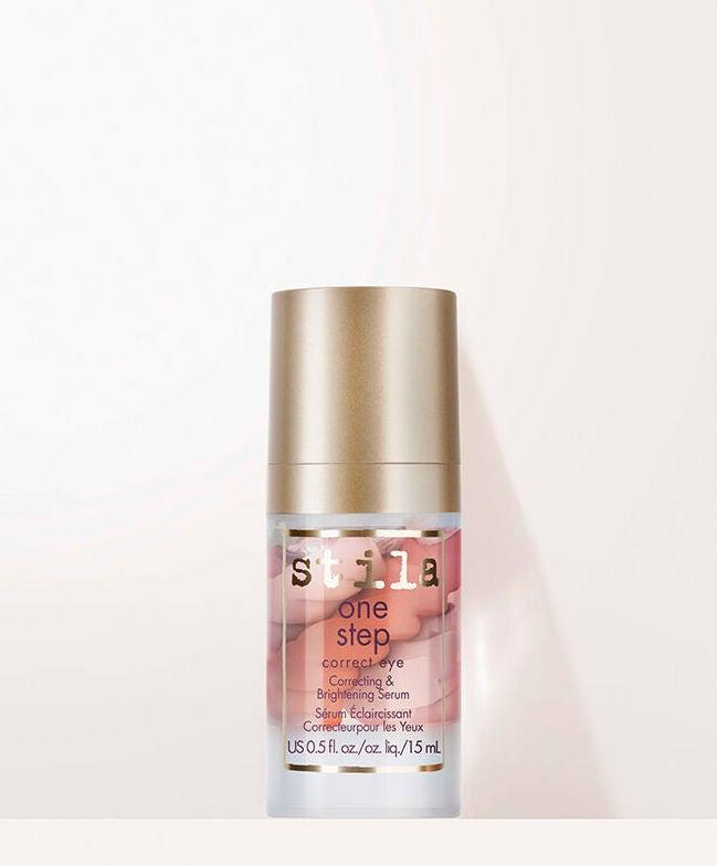 "<h3>Stila One Step Correct Eye Correcting & Brightening Serum<br></h3><br>The eye area gets its very own primer: A triple-swirled serum of peach tones that primes, lightens dark circles, and hydrates. And with a special elderflower complex and caffeine, it also helps de-puff and soothe. <br><br><strong>Stila</strong> One Step Correct EYE Correcting & Brightening Serum, $, available at <a href=""https://go.skimresources.com/?id=30283X879131&url=https%3A%2F%2Ffave.co%2F2CV8MwG"" rel=""nofollow noopener"" target=""_blank"" data-ylk=""slk:Stila"" class=""link rapid-noclick-resp"">Stila</a>"