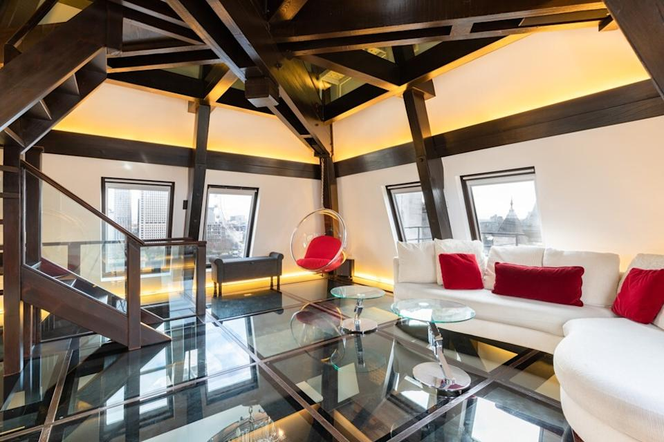 The bombproof penthouse in Whitehall Court, where the former MI6 headquarters were located, is seeking a new owner. Photo: Handout