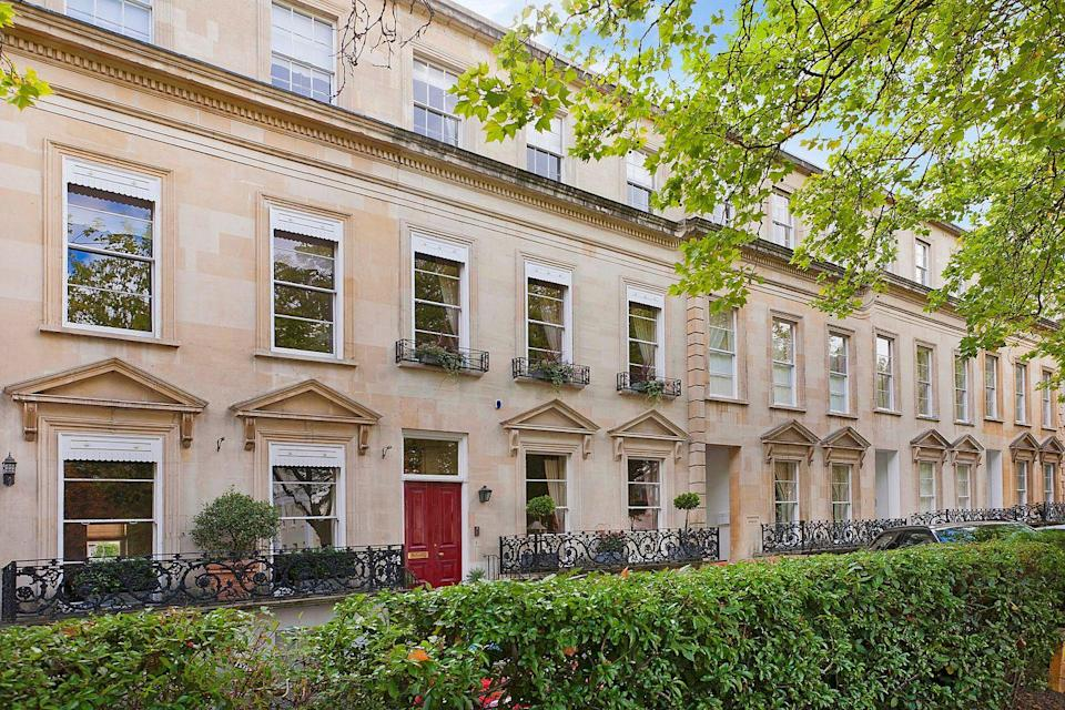 """<p>Looking to escape city life? This beautiful Grade II listed townhouse — which is arranged over four floors — ticks all the right boxes. As well as seven bedrooms and six bathrooms, it has some of the most exquisite interiors we've ever seen. </p><p><a href=""""https://www.knightfrank.co.uk/properties/residential/for-sale/royal-parade-cheltenham-gloucestershire-gl50/che012068169"""" rel=""""nofollow noopener"""" target=""""_blank"""" data-ylk=""""slk:This property is currently on the market for £2,350,000 via Knight Frank."""" class=""""link rapid-noclick-resp"""">This property is currently on the market for £2,350,000 via Knight Frank.</a><br></p><p><strong>Like this article? </strong><a href=""""https://hearst.emsecure.net/optiext/cr.aspx?ID=DR9UY9ko5HvLAHeexA2ngSL3t49WvQXSjQZAAXe9gg0Rhtz8pxOWix3TXd_WRbE3fnbQEBkC%2BEWZDx"""" rel=""""nofollow noopener"""" target=""""_blank"""" data-ylk=""""slk:Sign up to our newsletter"""" class=""""link rapid-noclick-resp""""><strong>Sign up to our newsletter</strong></a><strong> to get more articles like this delivered straight to your inbox.</strong></p><p><a class=""""link rapid-noclick-resp"""" href=""""https://hearst.emsecure.net/optiext/cr.aspx?ID=DR9UY9ko5HvLAHeexA2ngSL3t49WvQXSjQZAAXe9gg0Rhtz8pxOWix3TXd_WRbE3fnbQEBkC%2BEWZDx"""" rel=""""nofollow noopener"""" target=""""_blank"""" data-ylk=""""slk:SIGN UP"""">SIGN UP</a></p>"""