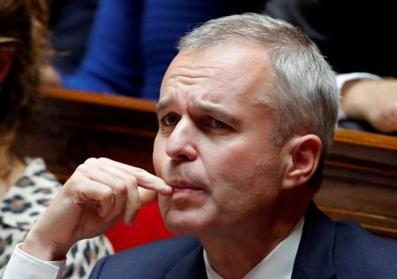 FILE PHOTO: French Minister for Ecology, Sustainable Development and Energy, Francois de Rugy attends a questions to the government session at the National Assembly in Paris