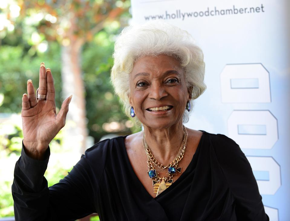 Actress/honoree Nichelle Nichols at the 2016 Heroes of Hollywood Awards Luncheon, May 11, 2016, in Hollywood. (Photo: Albert L. Ortega/Getty Images)