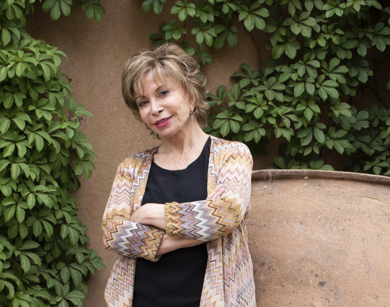 """This image released by Random House shows Isabel Allende, author of """"A Long Petal of the Sea"""" in Napa, Calif. (Lori Barra/Random House via AP)"""