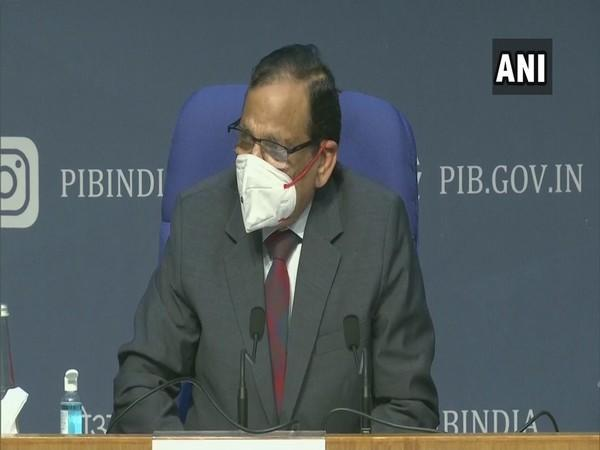 Dr VK Paul, Member (Health), NITI Aayog speaking to reporters in New Delhi on Tuesday.