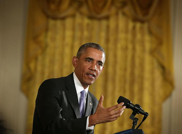 President Obama speaks during a news conference about the just-concluded Iran nuclear deal on July 15, 2015. (Photo: Alex Wong/Getty Images)