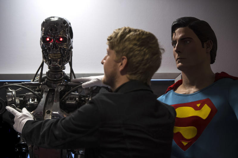 A T-800 Endoskeleton used in Terminator 2: Judgement Day (Victoria Jones/PA)