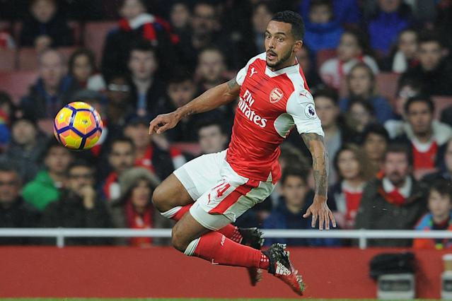Tough call: Theo Walcott is playing well but Gareth Southgate wants to look elsewhere: Arsenal FC via Getty Images