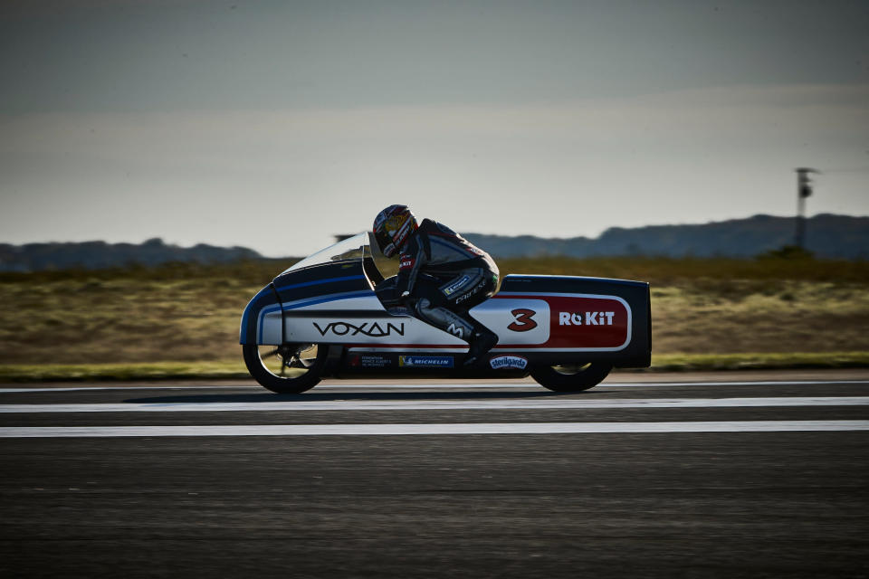 The Voxan Wattman, ridden by Max Biaggi, set a slew of speed records.