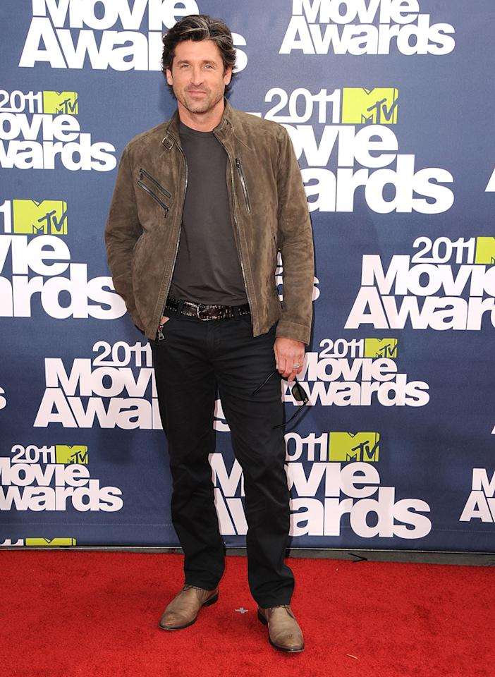 """<a href=""""http://movies.yahoo.com/movie/contributor/1800043748"""">Patrick Dempsey</a> attend the 2011 MTV Movie Awards in Universal City, California on June 5, 2011."""