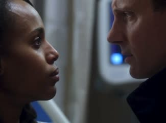Scandal Sneak Peek: Distraught Olivia Pushes [Spoiler] Away, Cyrus Meets Fitz's New Bestie