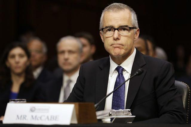 Acting FBI Director Andrew McCabe attends a Senate Intelligence Committee hearing Thursday on Capitol Hill. (Photo: Jacquelyn Martin/AP)