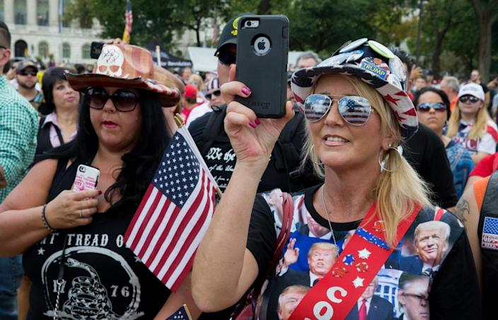 Trump supporters rally on the National Mall for the 'Mother of All Rallies' (Tasos Katopodis/Getty Images)