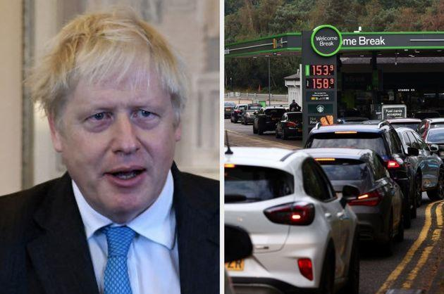Prime minister Boris Johnson has been criticised for not addressing the fuel crisis (Photo: Getty)