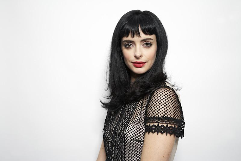 "This Oct. 23, 2012 photo shows American actress and former model Krysten Ritter posing in New York. Ritter stars in the comedy series, ""Don't Trust the B---- in Apartment 23."" (Photo by Dan Hallman/Invision/AP)"