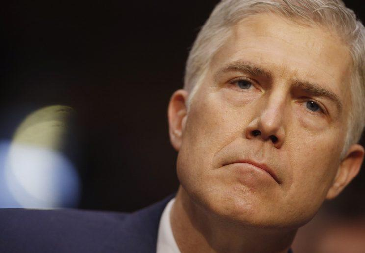 Supreme Court nominee judge Neil Gorsuch attends his Senate Judiciary Committee confirmation hearing on Capitol Hill. (REUTERS/Jonathan Ernst)