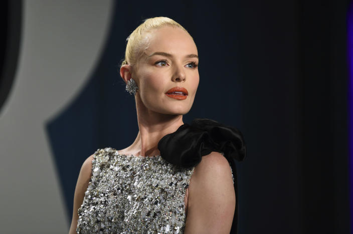 FILE - Kate Bosworth arrives at the Vanity Fair Oscar Party on Sunday, Feb. 9, 2020, in Beverly Hills, Calif. Bosworth turns 37 on Jan. 2. (Photo by Evan Agostini/Invision/AP, File)