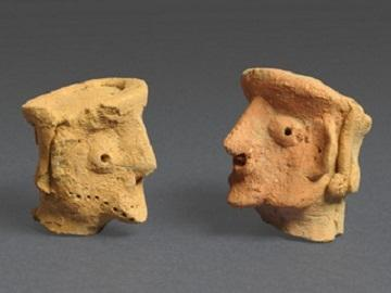 Human head figurines found at Tel Motza