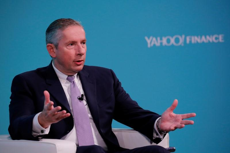 Klaus Kleinfeld, Chief Executive Officer of Arconic, takes part in the Yahoo Finance All Markets Summit in New York