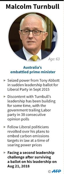 Malcolm Turnbull is hanging onto the prime ministership of Australia by a thread