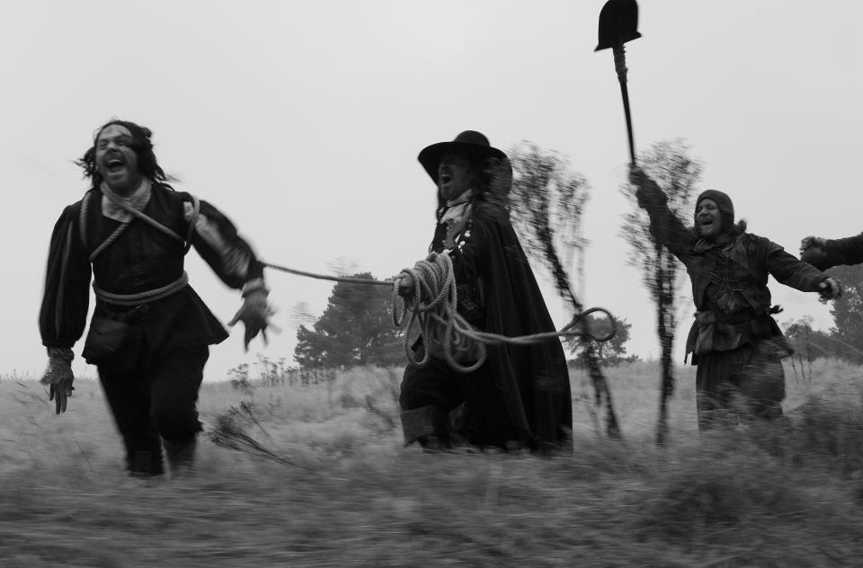 Ben Wheatley's <i>A Field In England</i> was released simultaneously in cinemas, on DVD and Blu-ray, digital and on television in 2013. (Film4)