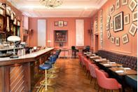 <p><strong>The Bar:</strong></p><p>There's not one but six bars to choose from to order a tipple in Home House. Our favourites? The multicoloured Gloucester Lounge and The House Bar, with its fuchsia and salmon pink hues and contrasting navy blue leather bar stools. Later in the evening we suggesting heading to The Vaults – a hub of activity with a DJ booth and two karaoke pods that'll help you part until closing time at 5am.</p>
