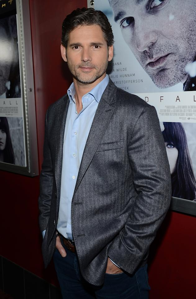"HOLLYWOOD, CA - NOVEMBER 29:  Actor Eric Bana attends the premiere of Magnolia Pictures' ""Deadfall"" at the at the ArcLight Cinemas on November 29, 2012 in Hollywood, California.  (Photo by Michael Buckner/Getty Images)"