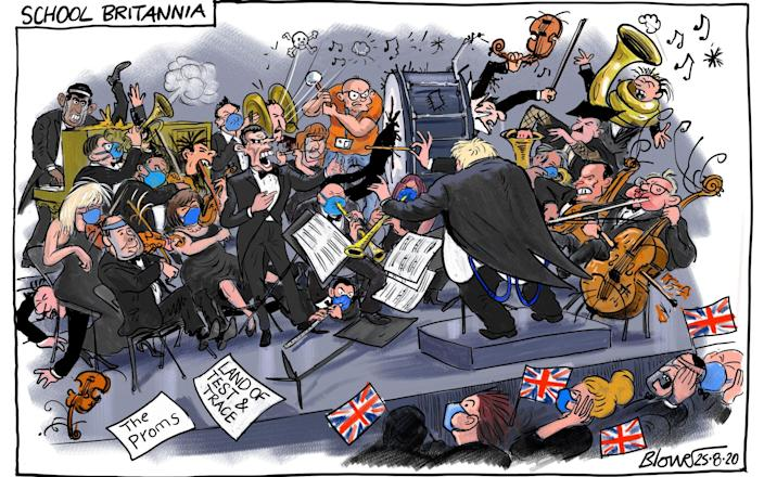 Blower links the return to school with the Proms row in today's cartoon