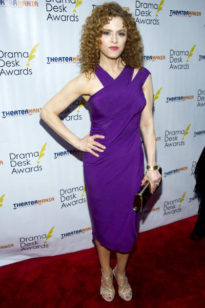 Bernadette Peters arrives at the 57th annual Drama Desk Awards on Sunday, June 3, 2012, in New York. (Photo by Charles Sykes/Invision/AP)