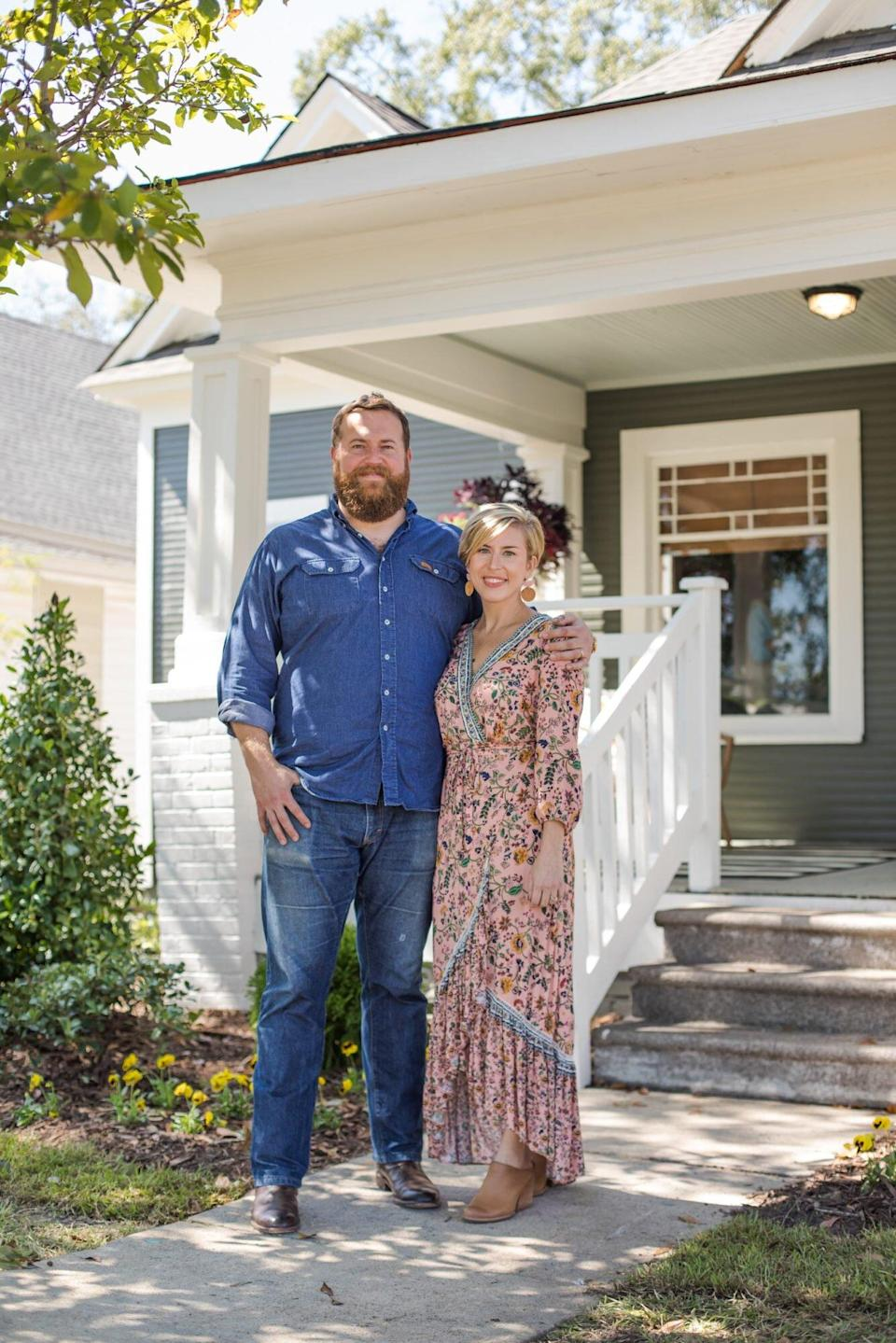 Ben and Erin Napier in Front of House