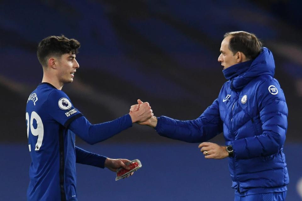 <p>Havertz starred for Tuchel on Monday night</p> (Getty Images)