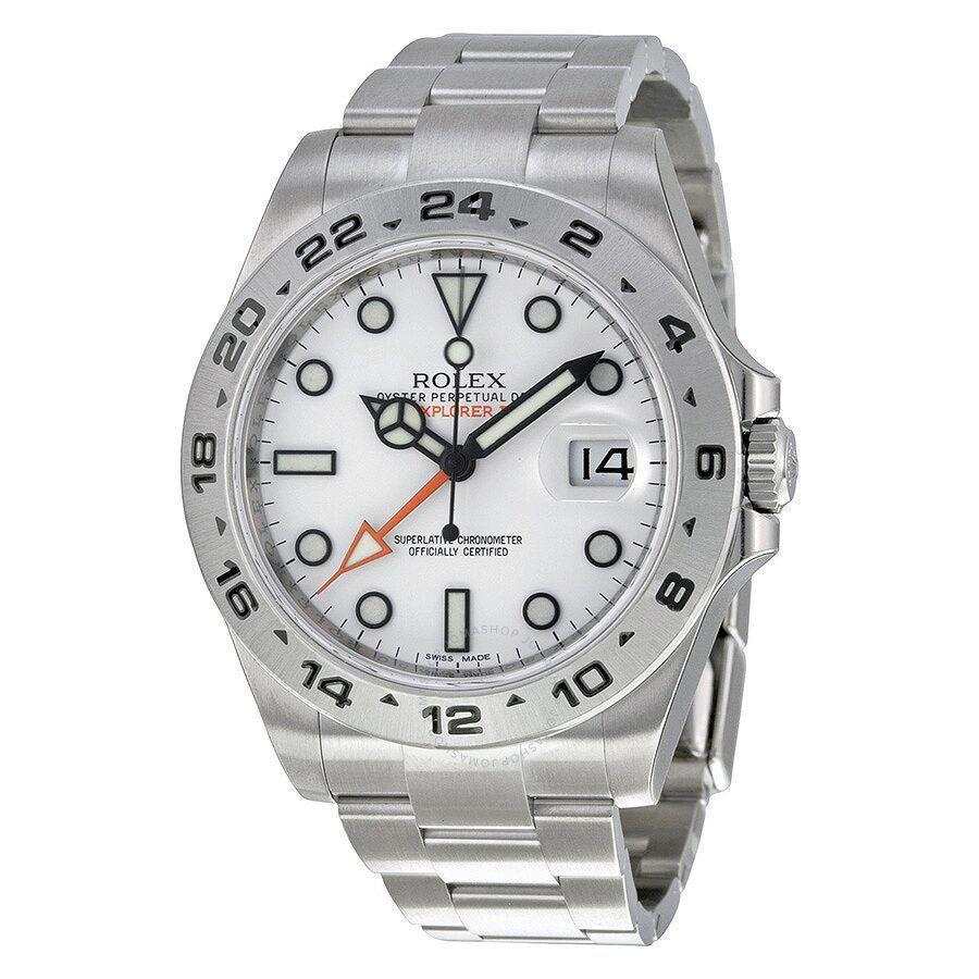 """<p><strong>Rolex</strong></p><p>jomashop.com</p><p><strong>$9995.00</strong></p><p><a href=""""https://go.redirectingat.com?id=74968X1596630&url=https%3A%2F%2Fwww.jomashop.com%2Frolex-explorer-ii-mens-watch-216570wso.html&sref=https%3A%2F%2Fwww.townandcountrymag.com%2Fstyle%2Fjewelry-and-watches%2Fg34741522%2Fbest-jewelry-gift-ideas%2F"""" rel=""""nofollow noopener"""" target=""""_blank"""" data-ylk=""""slk:Shop Now"""" class=""""link rapid-noclick-resp"""">Shop Now</a></p><p>Who wouldn't be thrilled to receive a Rolex? A no-nonsense stainless steel version ensures that it will get years of use. </p>"""