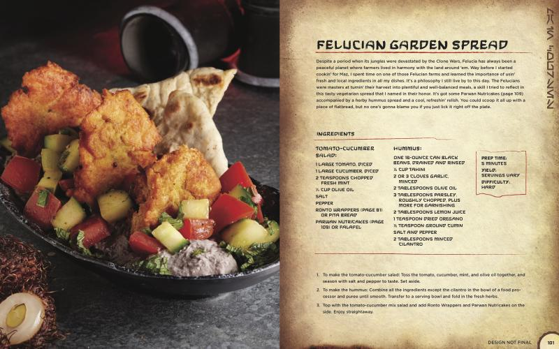 Felucian Garden Spread is a plant-based kebab and a Docking Bay 7 delicacy. (Photo courtesy of Insight Editions)