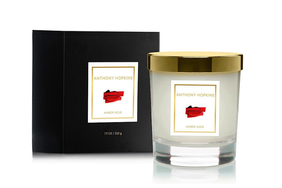 """<p>Yes, <em>The Silence of the Lambs</em> actor has his own home fragrance line — and it's just as timeless as he is! For Valentine's Day, we're digging his sensual Amber Noir candle, which starts sweet due to notes of amber and jasmine, and then mellows out with musk and sandalwood. </p> <p><strong>Buy It!</strong> $45, <a href=""""https://www.anthonyhopkins.com/collections/amber-noir/products/amber-noir-candle"""" rel=""""nofollow noopener"""" target=""""_blank"""" data-ylk=""""slk:anthonyhopkins.com"""" class=""""link rapid-noclick-resp"""">anthonyhopkins.com</a></p>"""