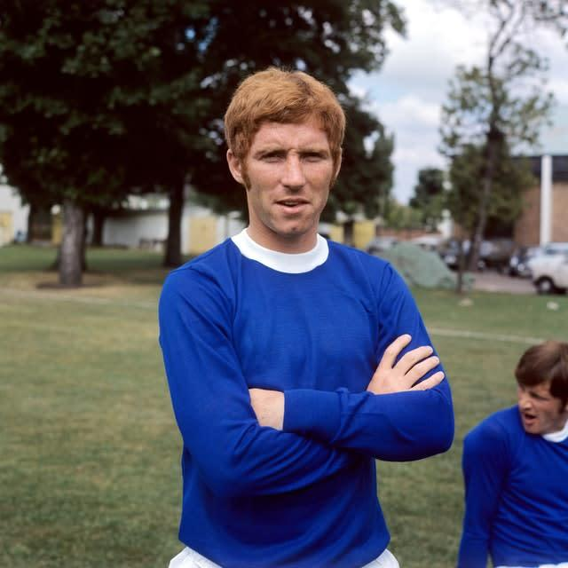 Ball joined Everton in 1966 for a then record fee (PA)