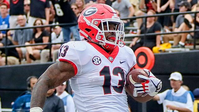 Former Georgia running back Elijah Holyfield, son of Evander Holyfield, is keen to establish his own legacy in the NFL.