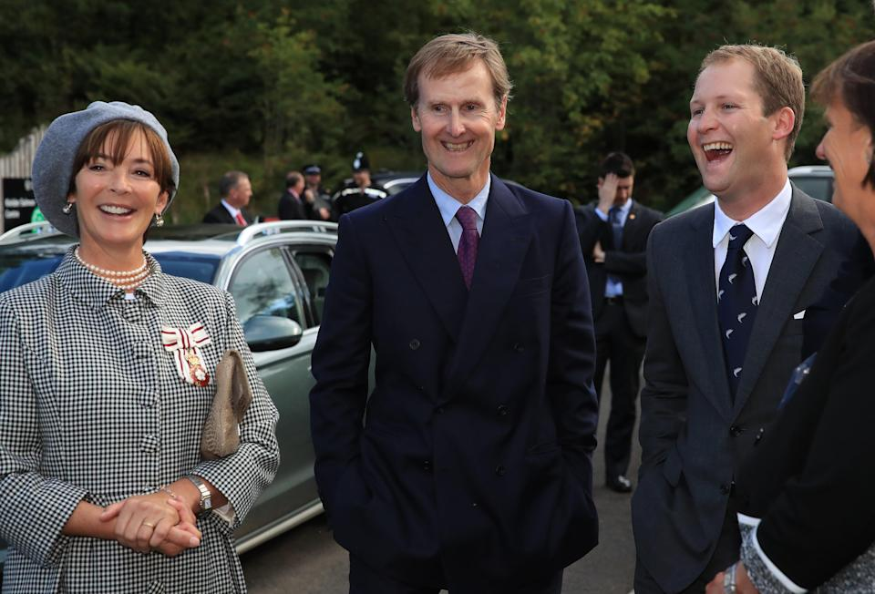 The Duke and Duchess of Northumberland with their eldest son George PercyGetty Images