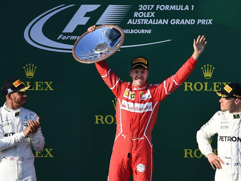 Sebastian Vettel claimed victory in the season-opening Grand Prix in Melbourne: Getty