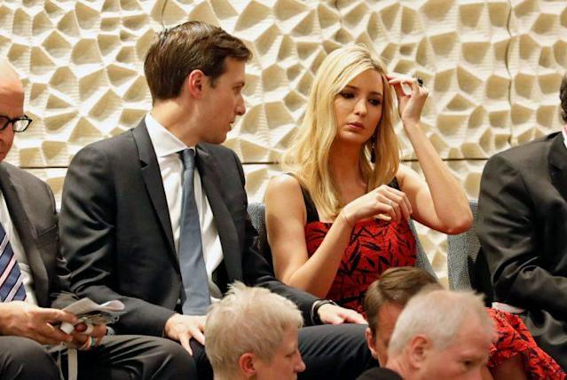 Ivanka Trump with her husband, Jared Kushner. (Photo: Felipe Trueba – Pool / Getty Images)