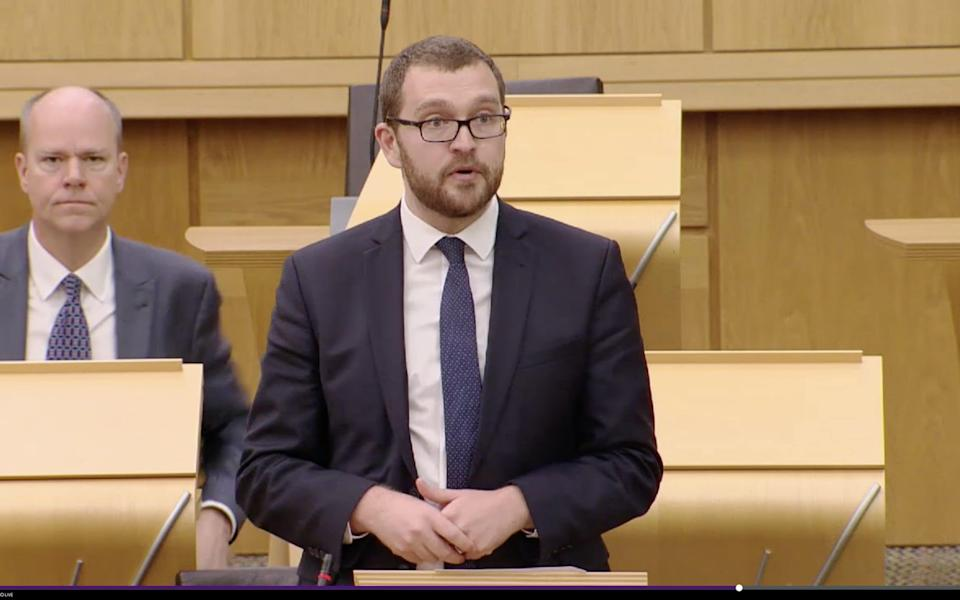 Oliver Mundell, the Tory MSP, has written the Holyrood motion - Scottish Parliament/Scottish Parliament