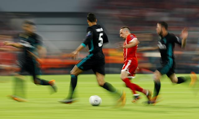 Soccer Football - Champions League Semi Final First Leg - Bayern Munich vs Real Madrid - Allianz Arena, Munich, Germany - April 25, 2018 Bayern Munich's Franck Ribery in action REUTERS/Kai Pfaffenbach TPX IMAGES OF THE DAY
