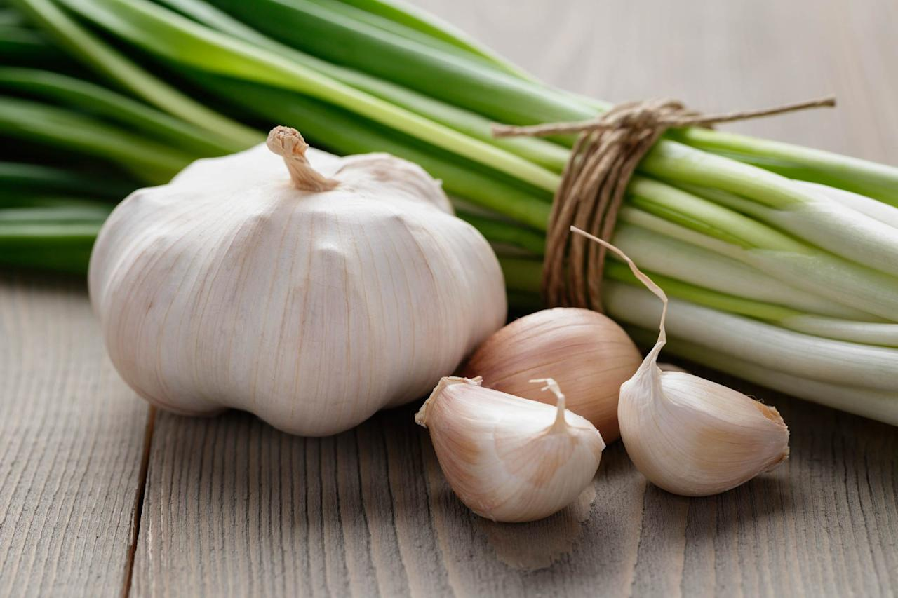"""This stinky plant does way more than flavor your tomato sauce. <a rel=""""nofollow"""" href=""""http://www.webmd.com/vitamins-supplements/ingredientmono-300-garlic.aspx?activeingredientid=300"""">Garlic</a> is antibiotic, antimicrobial, and antibacterial, says Clinical Herbalist and New York City-based founder of <a rel=""""nofollow"""" href=""""http://remediesherbshop.com/urban-herbalist/"""">Urban Herbalist</a> Steve Sietos. """"When you have yellow or green phlegm, reach for that garlic. It's highly anti-viral, immune stimulating, and it'll kill any upper respiratory infections,"""" he says. Garlic is great medicine for yeast infections and urinary tract infections too, according to <a rel=""""nofollow"""" href=""""https://www.sciencedaily.com/releases/2015/07/150710101332.htm"""">research</a> from the Birla Institute of Technology and Sciences in India. To use it as an elixir, take a clove of fresh garlic. Press or chop it, and let it sit for 15 minutes. When the garlic reacts with air, a chemical reaction transforms the clove into a powerful antibiotic, says Sietos, who also treats pets with herbs. He says that if you spread garlic and olive oil on a piece of bread or mix it with olive oil, it'll knock out any upper respiratory <a rel=""""nofollow"""" href=""""http://www.livestrong.com/article/488568-garlic-for-chest-congestion/"""">infections</a>. Check out these <a rel=""""nofollow"""" href=""""http://www.rd.com/health/beauty/13-surprising-benefits-of-garlic/1"""">surprising health benefits of garlic</a>."""