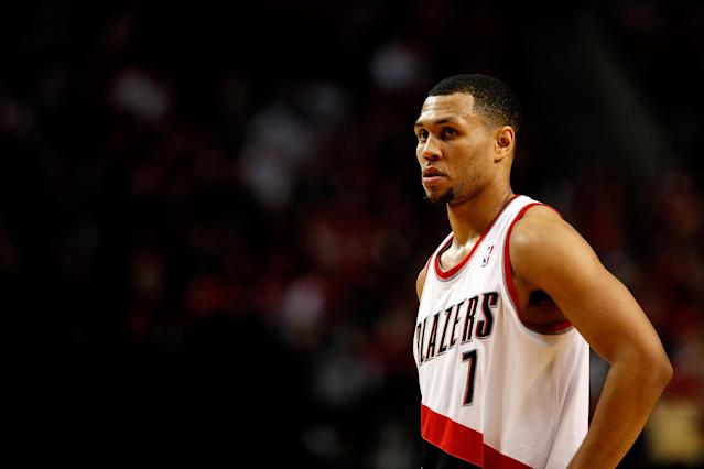 "PORTLAND, OR - DECEMBER 09: Brandon Roy #7 of the Portland Trail Blazers against the <a class=""link rapid-noclick-resp"" href=""/nba/teams/orlando/"" data-ylk=""slk:Orlando Magic"">Orlando Magic</a> on December 9, 2010 at the Rose Garden in Portland, Oregon. NOTE TO USER: User expressly acknowledges and agrees that, by downloading and or using this photograph, User is consenting to the terms and conditions of the Getty Images License Agreement. (Photo by Jonathan Ferrey/Getty Images)"