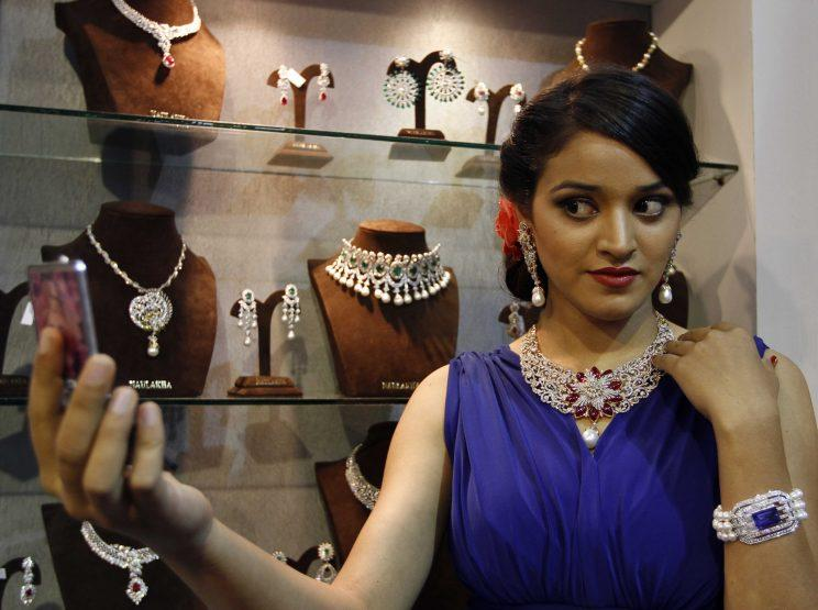 Gold, precious stones and jewellery is a $50bn a year export industry for India (Sanjeev Verma/Hindustan Times via Getty Images)